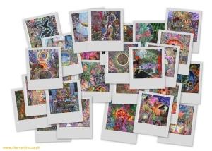 Pablo Amaringo - collage of Ayahuasca Visionary Paintings