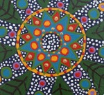 mandala: painting by Howard G Charing